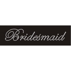 Opstrijkbare strass tekst Bridesmaid