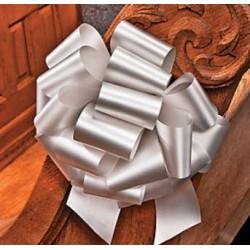 Grote zilveren polyesther trekstrik