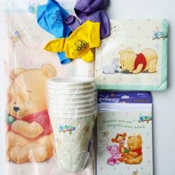 Vertederend 39-delig party pakket Winnie de Pooh and Friends