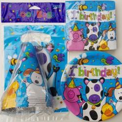 Super 1e verjaardags pakket 40-delig Animal Farm