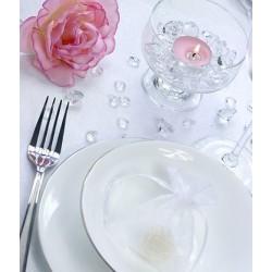 Diamant vormige doorzichtige tafel kristallen