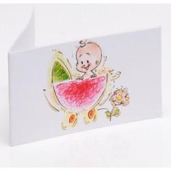Bedankkaartje Happy Baby pink