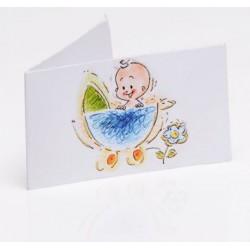 Bedankkaartje Happy Baby blue
