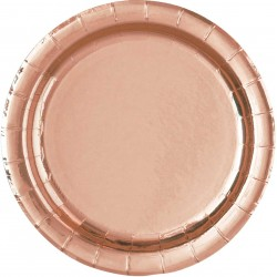 Pak met 8 bordjes met een diameter van 17,5 cm rose goud