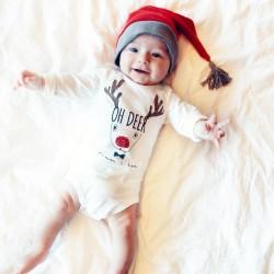 Grappige kerstromper voor de baby