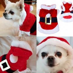 Kerstman pakje voor een kleine tot middel grote hond