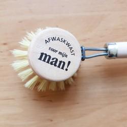 Originele houten 'Afwasborstel voor mijn man'