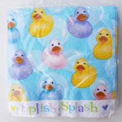 Pak met 16 lunch servetten Baby Duck