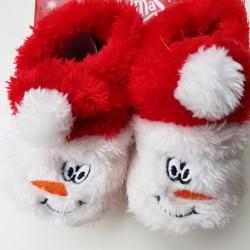 Baby kerst sokjes Sneeuwpop