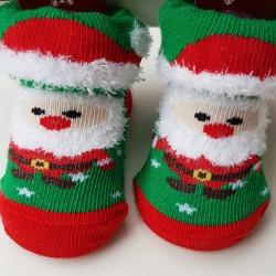 Baby kerst sokjes newborn Kerstman