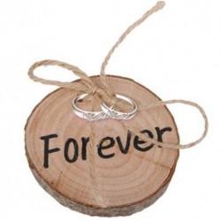 Alternatief ringenschaaltje boomstam met de tekst Forever