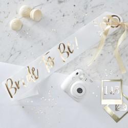 I Do Crew Bride to Be sjerp wit met goud folie opdruk