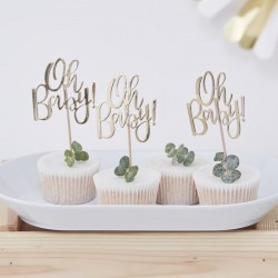 Pak 12 cupcake toppers Oh Baby