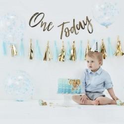 Pick and Mix eerste verjaardags kit goud en blauw