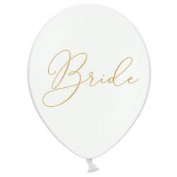 Ballon wit met in sierlijke gouden letters Bride