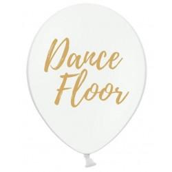 Ballon wit met in gouden letters Dance Floor