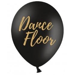 Ballon zwart met in gouden letters Dance Floor