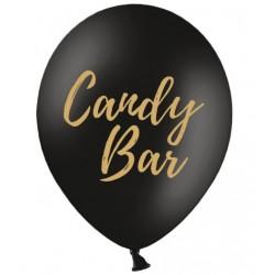Ballon zwart met in gouden letters Candy Bar