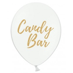 Ballon wit met in gouden letters Candy Bar