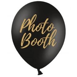 Ballon zwart met in gouden letters Photo Booth