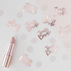 Pak met 14 gram Team Bride rosé gold confetti