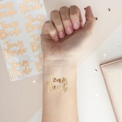 Pak met 16 rose gouden tatoeages Team Bride