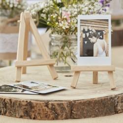 Pak met 3 kleine houten schildersezels naturel