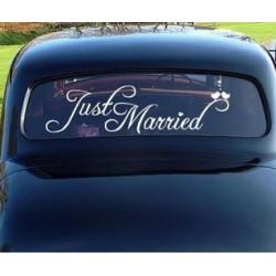 Auto decoratie sticker Just Married