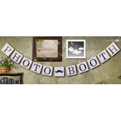 Banner Photo Booth met een vintage look