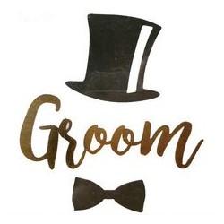 Tijdelijke tatoeage Groom met hoed en strik