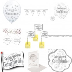 Aanbieding super decoratie pakket Gefeliciteerd met je Communie