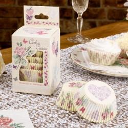 Pak met 100 papieren cupcake bakjes With Love