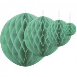 Aantrekkelijk geprijsde honeycomb bollen in 4 maten emerald green
