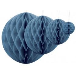 Aantrekkelijk geprijsde honeycomb bollen in 4 maten blauw