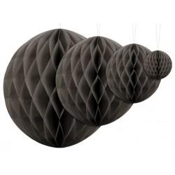 Aantrekkelijk geprijsde honeycomb bollen in 4 maten donker warm grijs