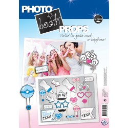 Pak met 20 foto props voor een Gender Reveal party