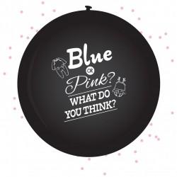 Set met 2 XL Ballon Gender reveal girl inclusief confetti van 60 cm groot