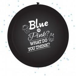 Set met 2 XL Ballon Gender reveal boy inclusief confetti van 60 cm groot