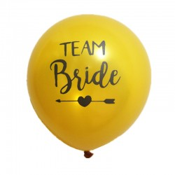 Ballonnen Team Bride Tribe goud met zwarte letters