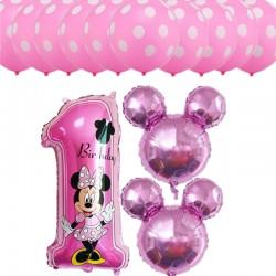 Minnie Mouse 13-delig folie ballonnen pakket voor een eerste verjaardag