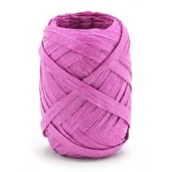 Raffia lint 10 meter x 5 mm donker roze
