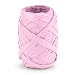 Raffia lint 10 meter x 5 mm licht roze