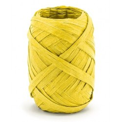 Raffia lint 10 meter x 5 mm geel