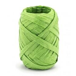 Raffia lint 10 meter x 5 mm groen
