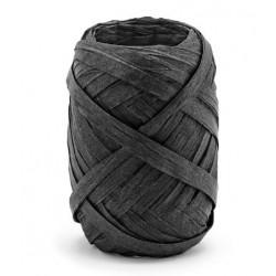 Raffia lint 10 meter x 5 mm zwart