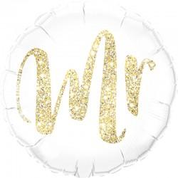 Gouden glitter Folie Ballon Mr