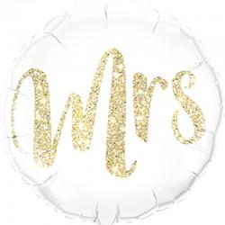 Gouden glitter Folie Ballon Mrs