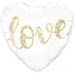 Gouden glitter Folie Ballon Love
