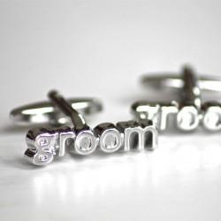 Manchetknopen Groom zilver