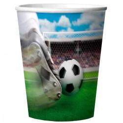 Pak met 4 voetbal bekers 3D
